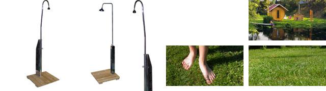 Dusche Garten Ohne Wasseranschluss : kleines saunafass gro?es saunafass sauna?fen gartendusche